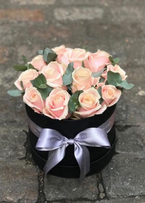 Pink Rose Hatbox