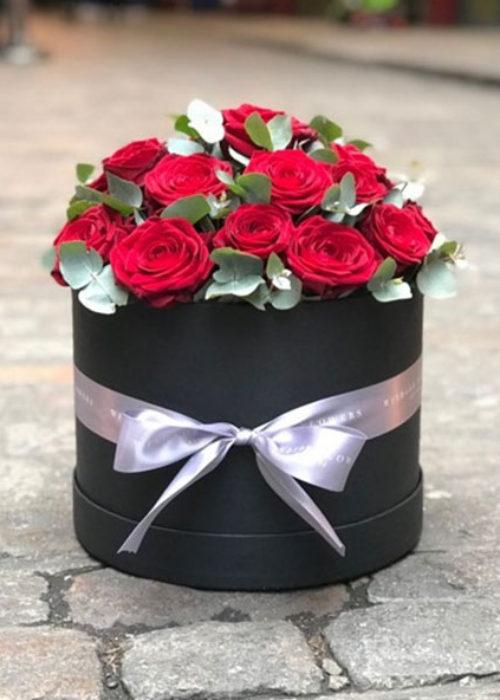 Red Rose Hatbox