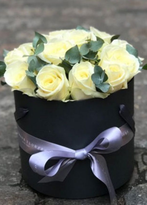 White Rose Hatbox
